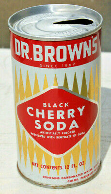 Dr. Brown's Black Cherry Pull Top Soda Can, College Point, New York NY