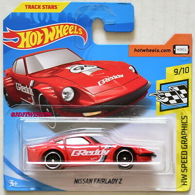 NISSAN FAIRLADY Z ✰red; st8; GReddy✰GRAPHICS✰2018 Hot Wheels LOOSE