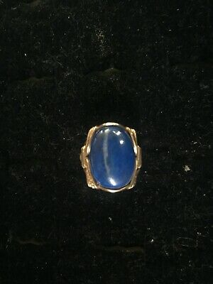 Wire Wrapped  18x25mm Rolled Gold Opal  Gemstone Ring in 14kt.
