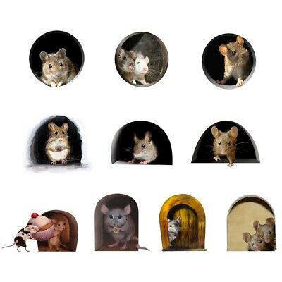 Funny Mouse Hole Decal Art Sticker for Home Door Stair Windows Wall Car Decor NZ