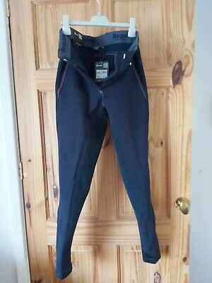 PIPING POCKET SALE 9 SIZE 14 DUBLIN LADIES SEATED BREECHES TAUPE // INDIGO