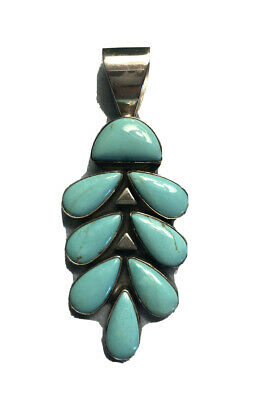 Mine Finds Turquoise Pendant. Jay King Turquoise and Black Onyx Sterling Silver Pendant Desert Rose Trading DTR Turquoise Pendant