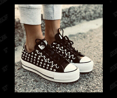 converse basse lether