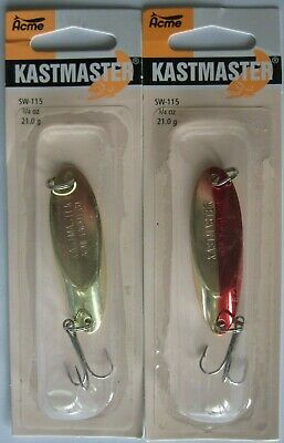 1//4 Ounce Acme Tackle KASTMASTER Fishing Lures Two Popular Colors! 2 Pks