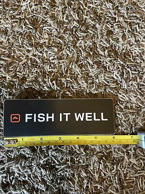 """Simms Fish It Well Fishing Fly Fishing Sticker//Decal Vinyl Black White Approx 6"""""""