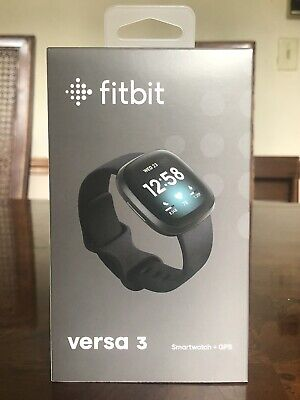 NEW//SEALED Black Pebble Only Fitbit Versa 2