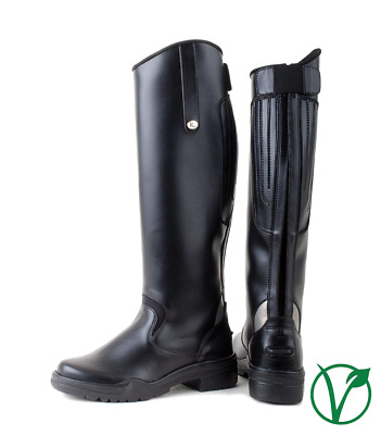 Black Just Togs JTE Nebraska Leather Long Field Horse Riding Boot Zip up Brown