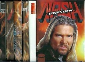 Nash #1-#2 Set (Nm) Plus Preview & Variant Covers, Wrestling Star, Wwe