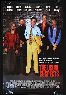 THE USUAL SUSPECTS * CineMasterpieces ORIGINAL MOVIE POSTER RARE WATCH VERSION