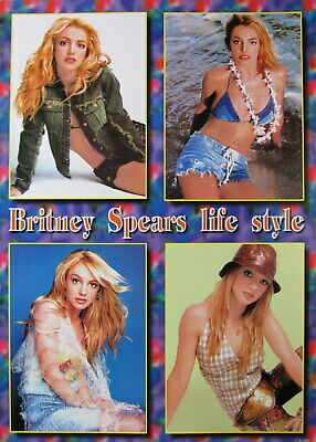 """Britney Spears """"life Style"""" Asian Poster - 4 Hot Shots!"""