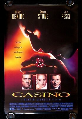 CASINO * CineMasterpieces 1SH GANGSTER ORIGINAL MOVIE POSTER NM ROLLED DS