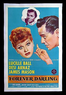FOREVER DARLING * CineMasterpieces I LOVE LUCY MOVIE POSTER LUCILLE BALL 1956