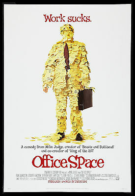 OFFICE SPACE * CineMasterpieces 1SH ORIGINAL MOVIE POSTER NM 1999 ROLLED DS