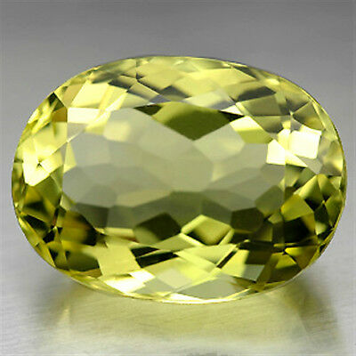 IF ~ 16.13 CT ~ Quartz Green Yellow Oval Gemstone