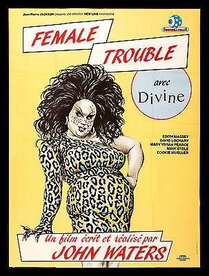 FEMALE TROUBLE CineMasterpieces FRENCH MOVIE POSTER DIVINE DRAG QUEEN GAY TRANS