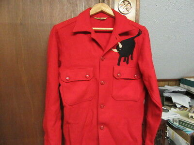 BSA Red Wool Jacket with Philmont bull             cs