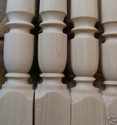 "Custom Turned 1.75"" Poplar Stairway Spindles Balusters Porch Rails"