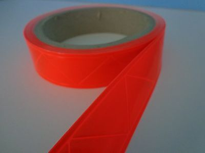 "Reflective Sew On High Gloss Trim Tape ORANGE 1"" 20 ft"