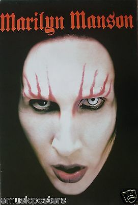 """MARILYN MANSON """"WHITE FACE, RED EYEBROWS"""" ASIAN POSTER - Industrial Metal Music"""