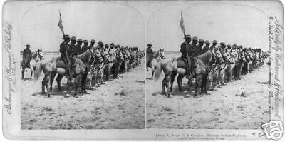 Troop A Ninth US Cavalry Famous Indian fighters 1898