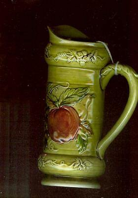 Lefton Pitcher  #4458  (Green Orchard)