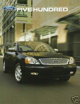 Mint Condition 2006 FORD FIVE HUNDRED II  BROCHURE 06