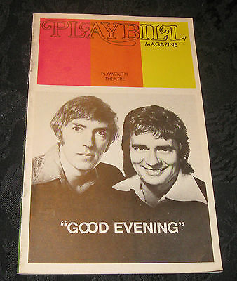 Playbill GOOD EVENING Peter Cook, Dudley Moore, 1973 @ Plymouth Theatre