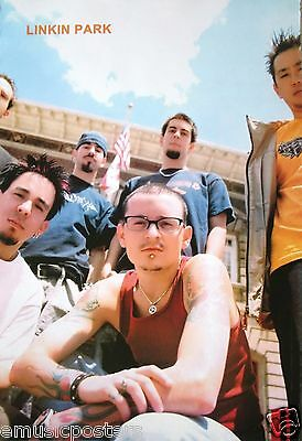 """Linkin Park """"young Group Shot Beneath U.s. Flag"""" Music Poster From Asia"""