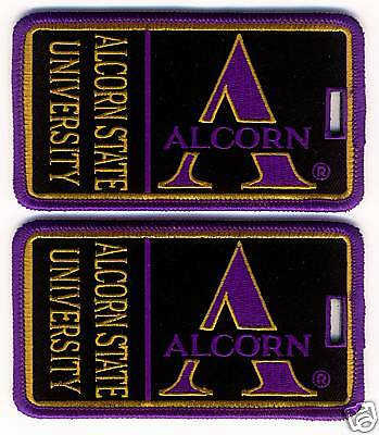 ALCORN STATE UNIVERSITY Luggage ID Tags (Set of 2)