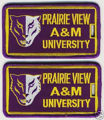 PRAIRIE VIEW A&M UNIVERSITY Luggage ID Tags (Set of 2) - Embroidered