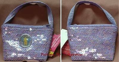 Tinkerbell Sequin Fashion Bag Lavender Coin Purse Tink
