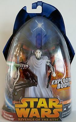 "GENERAL GRIEVOUS Star Wars Episode III ROTS Movie 3 3/4"" inch Figure #36 2005"