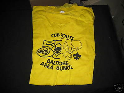Baltimore Area Council 1980 Cubs 50th anniversary t-shirt, Adult       k1