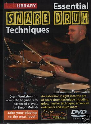 LICK LIBRARY ESSENTIAL SNARE DRUM TECHNIQUES Learn to Play Grips Moeller DVD