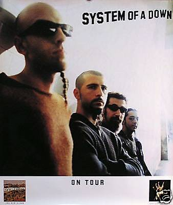 "System Of A Down ""toxicity Tour"" 2001 U.s. Promo Poster"