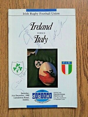 Ireland v Italy 1988 Signed Rugby Programme