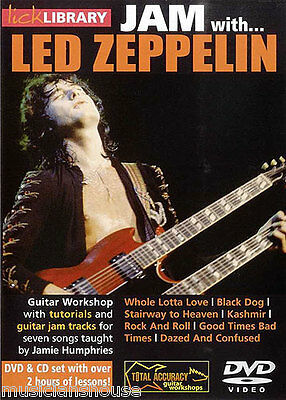 LICK LIBRARY Learn to Play JAM WITH LED ZEPPELIN Whole Lotta Love GUITAR DVD