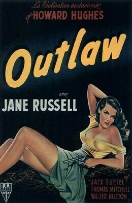 THE OUTLAW MOVIE POSTER Jane Russell RARE HOT VINTAGE 5
