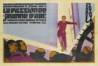 THE PASSION OF JOAN OF ARC MOVIE POSTER 1928 Vintage 2