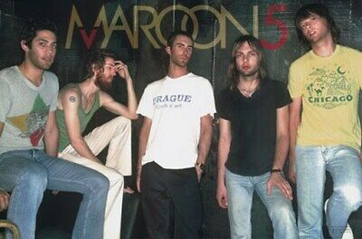 MAROON 5 POSTER - GROUP SHOT POSE COLOR Five 24X36
