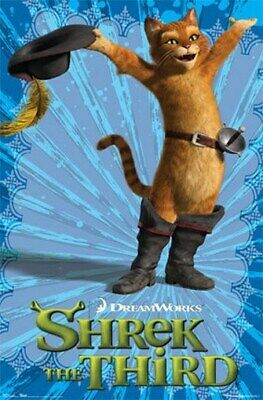SHREK 3 Movie POSTER - PUSS IN BOOTS - THE THIRD