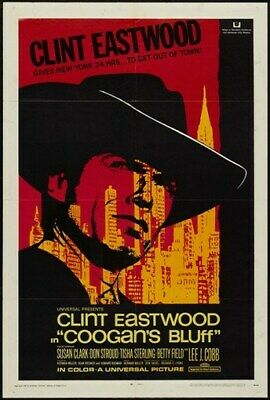 COOGAN'S BLUFF MOVIE POSTER Clint Eastwood RARE VINTAGE