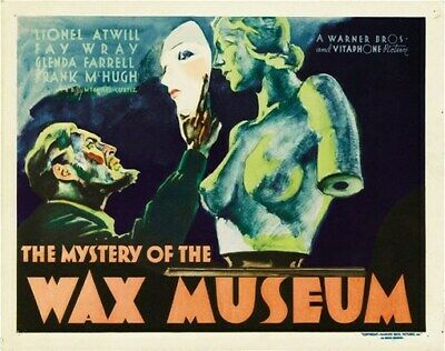 THE MYSTERY OF THE WAX MUSEUM MOVIE POSTER Rare Vintage