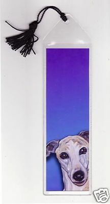 WHIPPET BOOKMARK Mini Dog Art PRINT of Painting by VERN