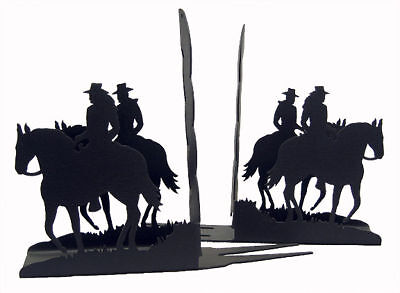 Horseback Rider Black Metal Bookends (sold as a pair)