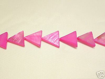 10 x Natural Dyed Shell Beads:BNSP12 Cerise Triangle