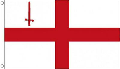 CITY of LONDON FLAG England English St George Cross