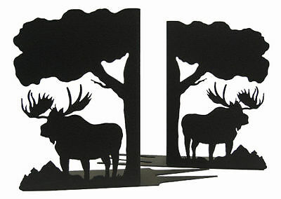 Moose Black Metal Bookends (sold as a pair)