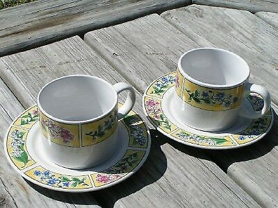 Elegantware by Made in China Lot 2 Cup Saucer Vintage
