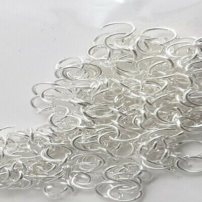 200 pieces 4mm Silver Plated Metal Open Jump Rings - A6300